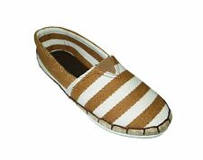 NEW! AVA WOMEN'S ESPADRILLE FLATS/ SHOES (BROWN STRIPES, SIZE #6)