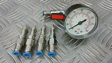P38 RANGE ROVER AIR SUSPENSION TEST GAUGE & EMERGENCY BYPASS EAS AIR VALVE SET