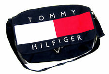 VTG 90S TOMMY HILFIGER USA FLAG BIG LOGO MESSENGER BAG SPORT CROSSBODY POLO 1992