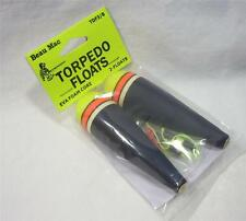 Beau Mac Torpedo Floats 3/8 oz EVA Foam Core w/Stops/Beads Fishing Bobbers New