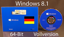 Microsoft Windows 8.1 Vollversion SB 64-Bit + Hologramm-DVD DE OVP NEU