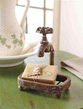 Mud Pie Garden Collection Water Spigot Faucet Soap Dish Set 4415005 New