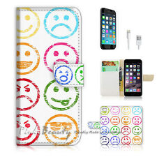 "iPhone 6 (4.7"") Print Flip Wallet Case Cover! Mood Face Smile P0207"