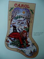BYGONE DAYS CHRISTMAS STOCKING CROSS STITCH PATTERN  - SANDY ORTON
