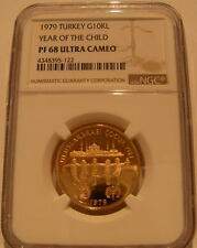 Turkey 1979 Gold 10000 Lira NGC PF-68UC Year of The Child