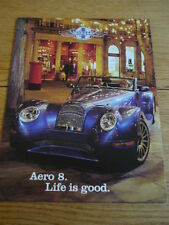 MORGAN AERO 8 CAR BROCHURE  jm