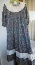 "Hawaiian MuuMuu | Large XL | Blue Pink ""Hilda Hawaii"" Hawaii MuMu Dress"