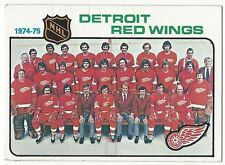 1975-76 TOPPS HOCKEY #87 RED WINGS CHECKLIST - VG+/EX-