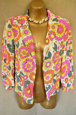 RIVER ISLAND Boho 70's floral blazer jacket UK 8