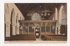 Interior, St. Michaels Church, Minehead Postcard, A850