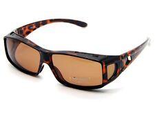 Polarized Lens Sunglasses Clip Wear Fit Over Glasses Frame Tortoise 9168