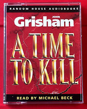 John Grisham A Time To Kill 2-Tape Audio Book Michael Beck Legal Thriller