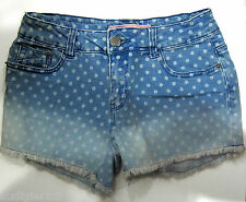Authentic SHANA Polka Dot Denim Shorts Size 36