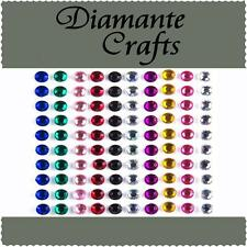 100 x 5mm Mixed Colour Diamante Self Adhesive Rhinestone Craft Embellishment Gem
