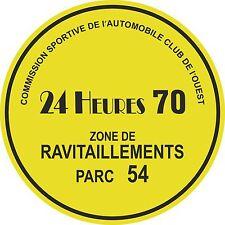 Le MANS 24 HEURES 1970 parking permis fenêtre autocollant Steve McQueen circuit heure