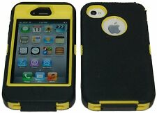 iPhone 4 4S Multi Color Three-layer Hybrid Body Armor Rubber Silicone Cover Case