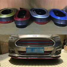 2.5M Carbon Fiber Universal Front Bumper Chin Protection Side Skirts Spoiler Lip