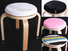 Round Cushion Pad Mat/Plush canvas Sponge Anti-slip/No Inc Chair Seat Stool/26cm