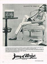 PUBLICITE ADVERTISING 014   1964    JEAN D'AVEZE   cosmétiques