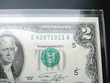New listing $2 1976 (Seal Misalignment Error)Federal Reserve Choice Unc Bu Note