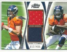* BROCK OSWEILER & RONNIE HILLMAN * 2012 TOPPS PRIME DUAL JERSEY RC # 17/405 1/1