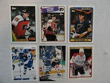 Peter Zezel 6 Card Lot Philadelphia Flyers Toronto Maple Leafs Blues Capitals