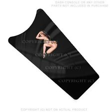 Console Dash Skin For Harley Touring 87-07  -  BIKINI GIRL ON BLACK - 109