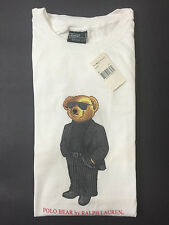 NEW OLD STOCK VINTAGE RALPH LAUREN POLO COOL MAFIA BEAR TSHIRT WHITE XL 92 L XXL