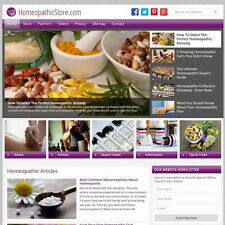 HOMEOPATHIC MEDICINE professional WordPress website w/Amazon store - FREE DOMAIN