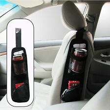 1x Auto Car Seat Side Pouch Phone Drink Pen Storage Organizer Bag Car Accs Parts