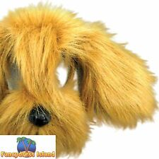 BROWN SHAGGY PUPPY DOG FURRY ANIMAL MASK Unisex Fancy Dress Costume Accessory