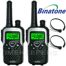 10Km Binatone Action 1100 Walkie Talkie 2 Two Way Radio for Skiing & Go Karting