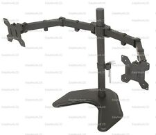 "EZM Dual LCD Monitor Mount Stand Free Standing - Up to 27"" (002-0009)"