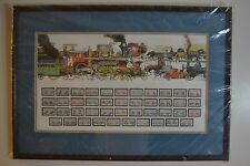 Wind River Studios Transportation Print with Commemorative Stamps from 1800-1940