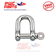"""SENECA Marine Stainless Steel 316 STRAIGHT D Shackle w Pin Boat Anchor 5/32"""""""