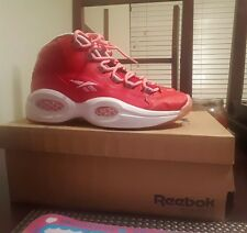REEBOK QUESTION MID SCARLET  WHITE SIZE 4 shaq blacktop pump