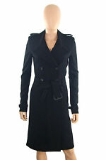 GIVENCHY Ladies Solid Black Knit Trench COAT/Jacket Sz 36.100% Auth. NEW!