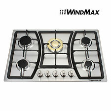 Windmax 30 Inch Stainless Steel 5 Burners Built-In NG/LPG Gas Cooktops / Cooker