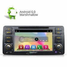 "Android 6.0 7"" Car Stereo DVD Player GPS Navigation Radio for BMW 3 Series E46 E"