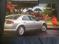 2003 Chrysler Sebring Original Brochure Catalog Prospekt