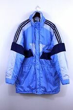 Vtg Adidas 80s Mens Parka Coat Trefoil Jacket Blue Adicolor GB44 D54 F6 XL / XXL