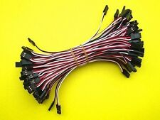 100x 20CM Male to Male JR Plug Servo Extension Lead Wire Cable 200mm