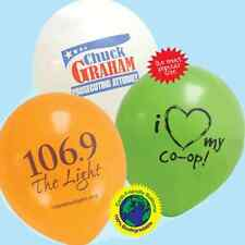 "500 11"" Custom Printed Latex Balloons Personalized Business Promo Wedding Party"
