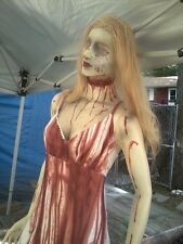 GHOST GIRL WALKING DEAD  LIFESIZE MANNEQUIN HALLOWEEN PROP ZOMBIE PROP