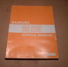 SUZUKI GENUINO MANUAL DE TALLER GS125 GS125ES GS 125 ES 1983 99500 31010 01E