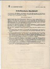 8/544 RDA protección laboral nota explicativa VEB colores fábrica Wolfen recibo