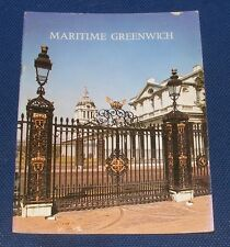 GUIDEBOOK: MARITIME GREENWICH 24 PAGES 1974 PITKINS PICTORIALS LIMITED