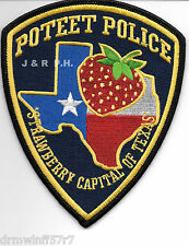 "Poteet, TX  new style (4"" x 5"" size)  shoulder police patch (fire)"