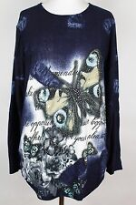 NEW WOMEN  TUNIC size  20/22  TOP LONG SLEEVE SEQUINS BLOUSE  LADIES   4303