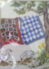 The Creative Circle 1689 Clothesline Quilts counted cross stitch, springtime